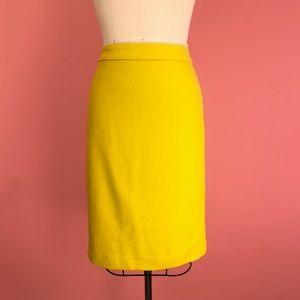 """ The Pencil Skirt "" Yellow - J. Crew"